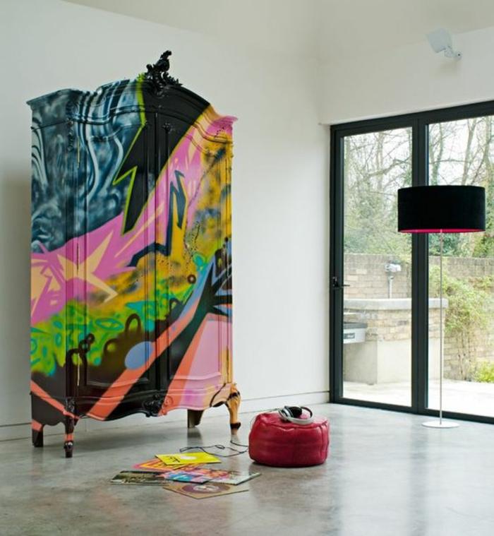 dressing-graffiti-chambre-ado-artistique-idée-créative