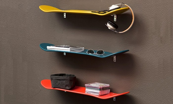 étagère skate skateboard planche roulettes deco mur planches murales
