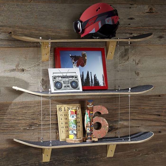 étagères murales étagère skateboard decoration deco skate planche pour etagere