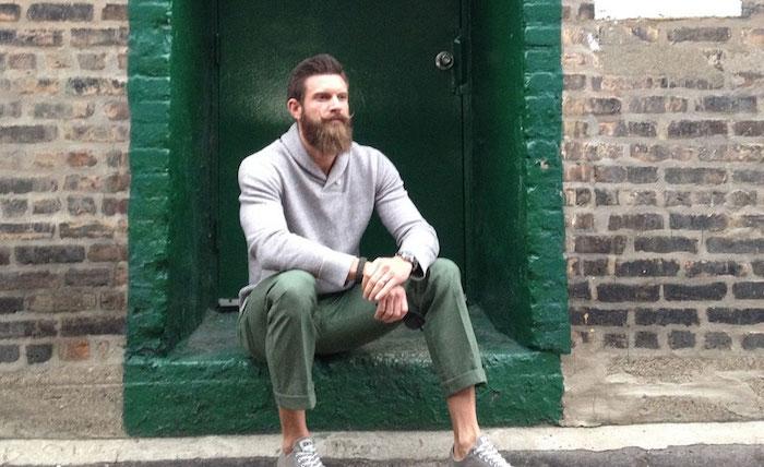 pantalon ville homme été léger vert kaki