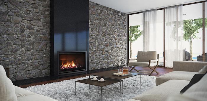 escea-AF960-cheminée a gaz vitre insert fermé foyer salon design moderne