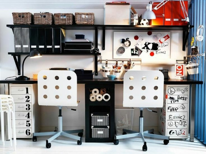 espace-bureau-pour-deux-chambre-d'ado-garçon