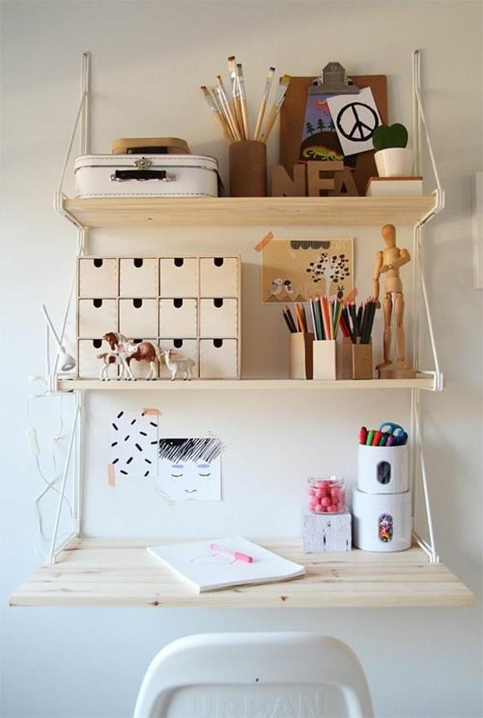 espace-créative-chambre-d'ado-créative-bureau-en-bois