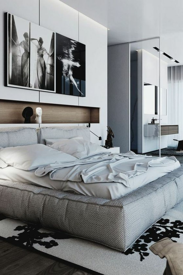 1001 id es comment d corer vos int rieurs avec une niche murale - Chambre a coucher noir et blanc ...