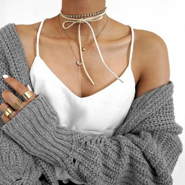 V-neck chemise pour le collier femme ras de cou colliers ras de cou