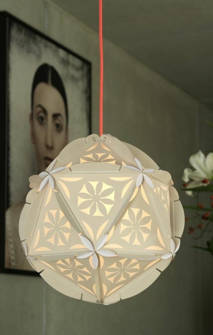 fabriquer un abat-jour, luminaire en papier plié