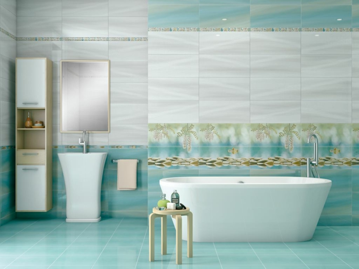good salle de bain gris turquoise faience turquoise salle de bain with faience salle de bain. Black Bedroom Furniture Sets. Home Design Ideas