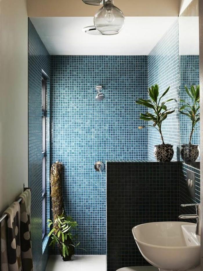 Faience salle de bain turquoise maison design for Faience bleu salle de bain