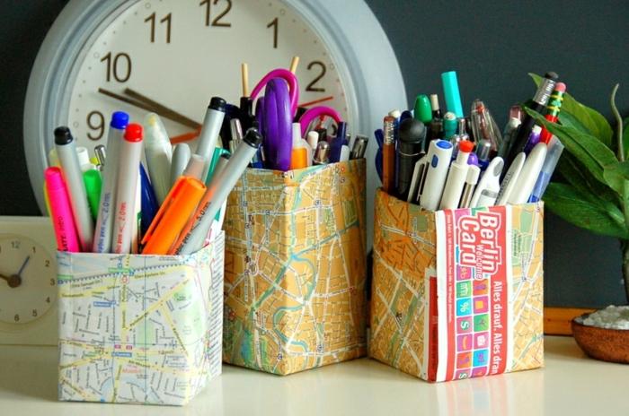 faire-une-boite-en-papier-diy-a-partir-de-cartes-géographiques-idée-pour-fabriquer-un-pot-à-crayon-original