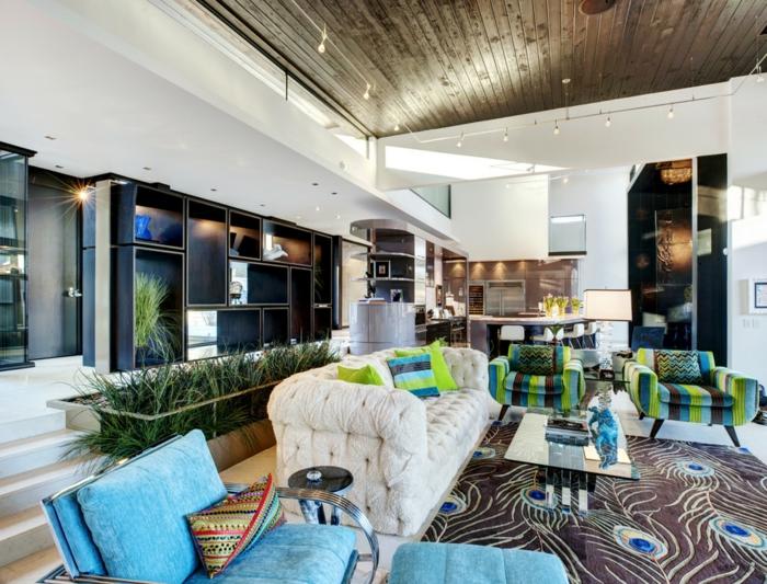 fantastique-idée-décoration-chambre-ado-salon-canapé-blanc-capitone