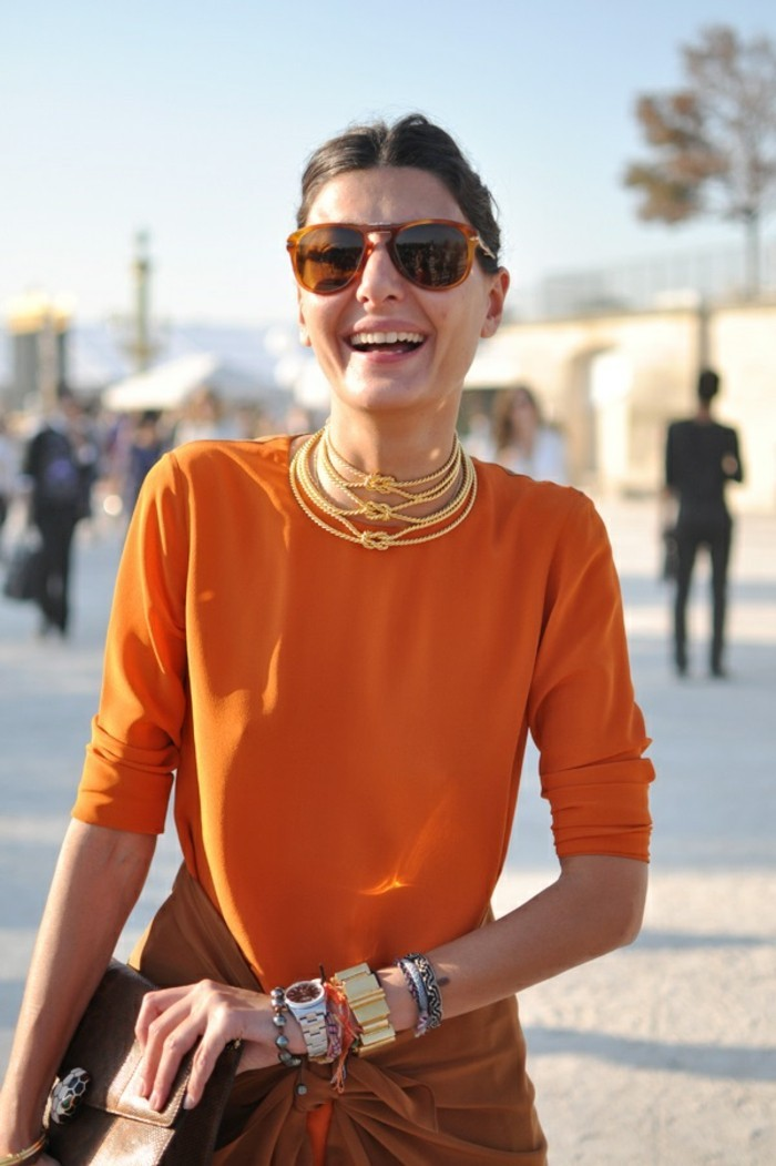 fashion-comment-s-habiller-a-paris-idée-vetement-belle-robe-orange