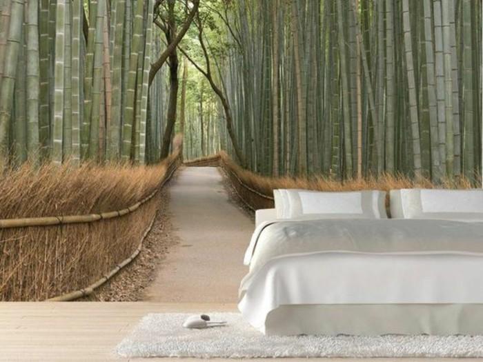 forêt-bambou-chambre-à-coucher-moderne-papier-peint-3d-paysage-