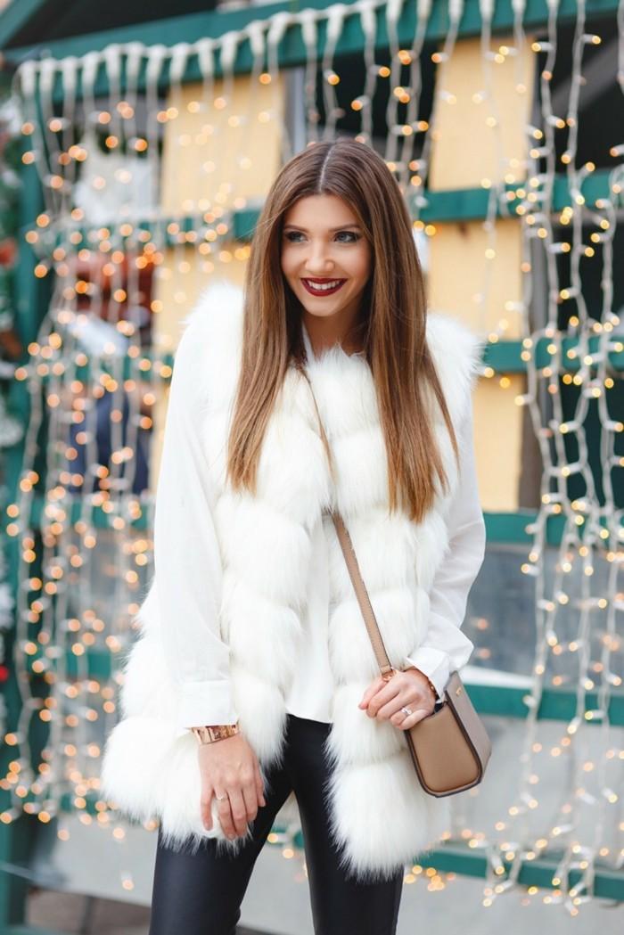 gilet-en-fourrure-blanc-legging-simili-cuir
