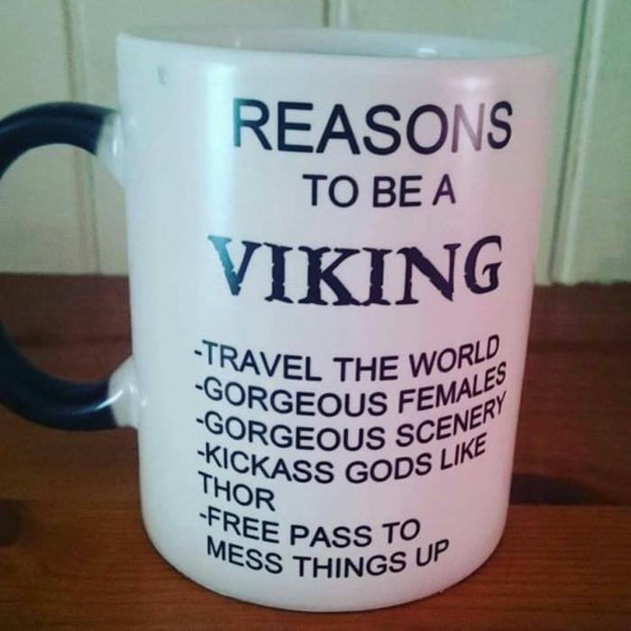 gobelet personnalisé, les raisons d'être un viking