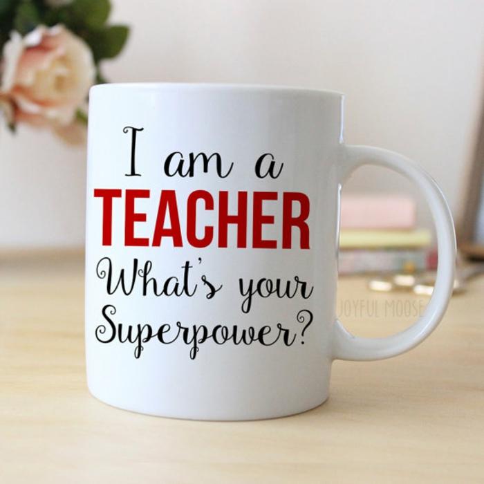 gobelet personnalisé, cadeau pour un prof aimé