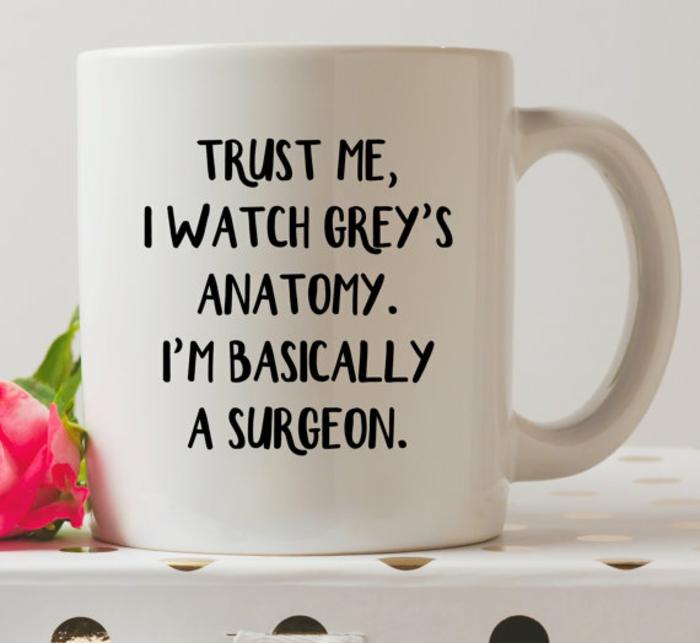 gobelet personnalisé, pour les fans de Grey's anatomy