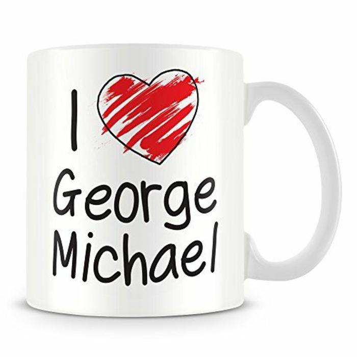 gobelet personnalisable, tasse à café avec le nom de la star préférée