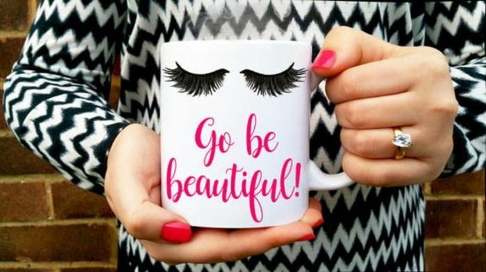 gobelet personnalisable, tasse à café amusante pour offrir à une fille