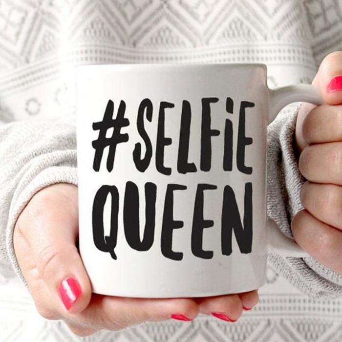 gobelets personnalisés, une tasse pour la reine des selfies