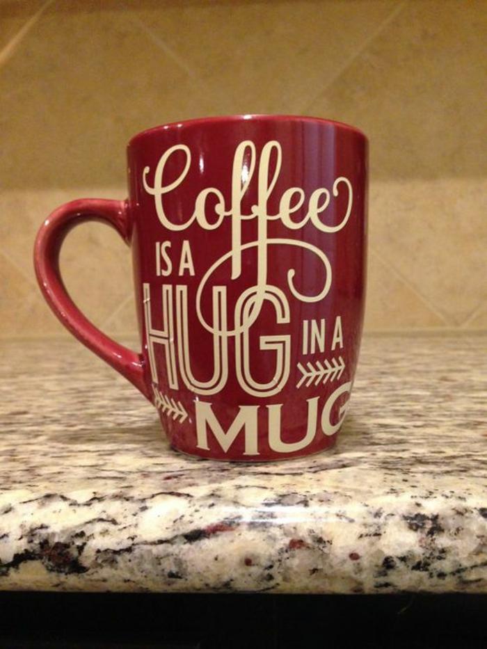 gobelets personnalisés, coffee is a hug in a mug