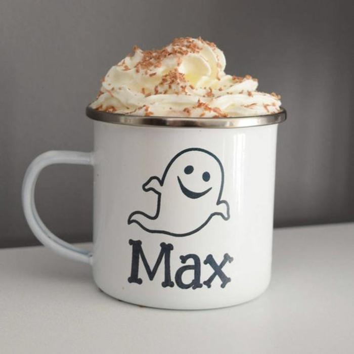 gobelets personnalisés, tasse à café originale avec un prénom écrit
