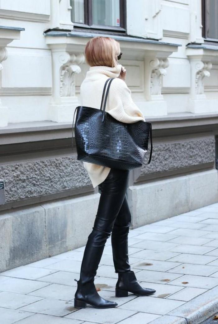 grand-sac-à-mains-gros-pull-pantalon-cuir