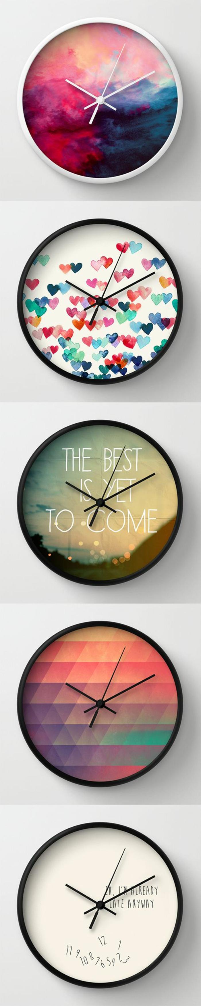 horloge-murale-pour-une-chambre-d'ado-créative