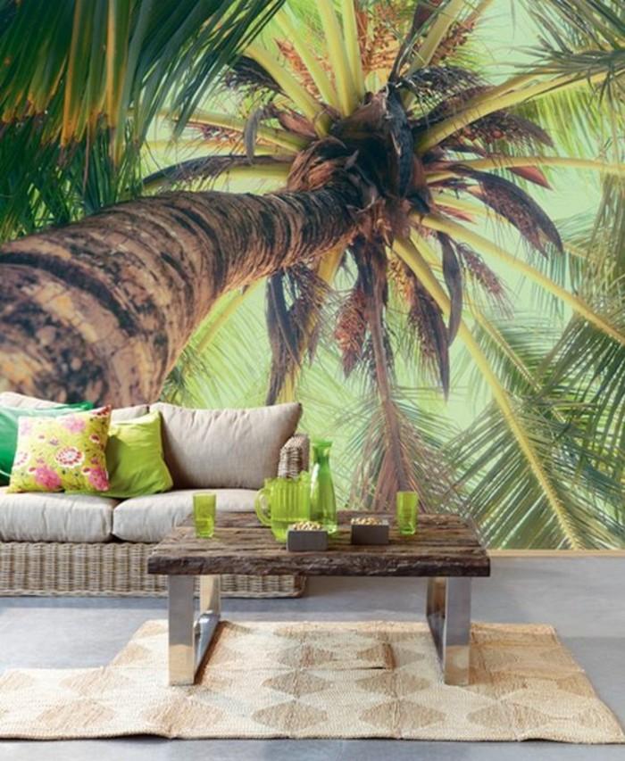 imprimé-tropical-papier-peint-3d-effet-trompe-l'oeil-