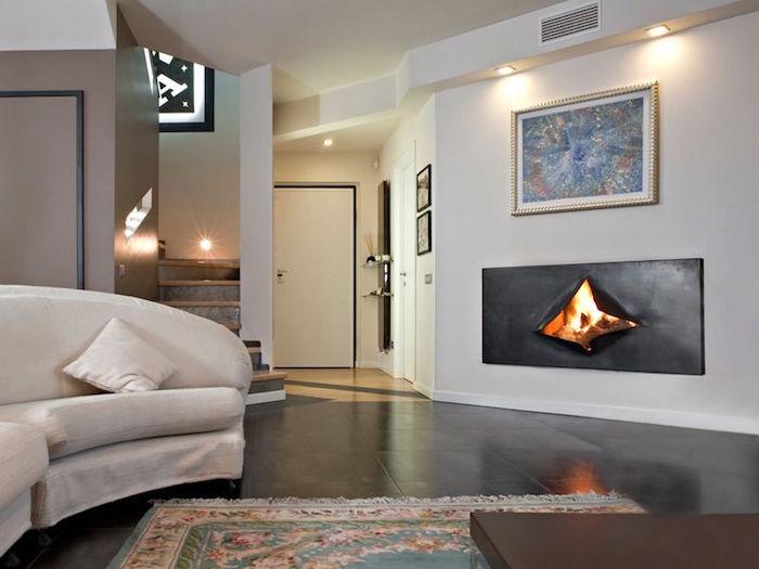 insert de cheminee-design-omegafocus foyer ouvert incresuté dans mur deco original