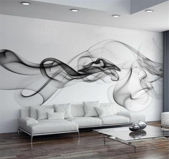 intérieur-blanc-papier-peint-salon-effet-3d