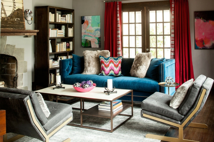 jolie-chambre-bleu-idee-deco-chambre-garcon-canape