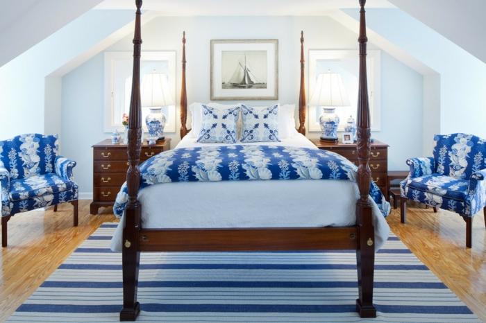 jolie-chambre-bleu-idee-deco-chambre-garcon-lit-grand