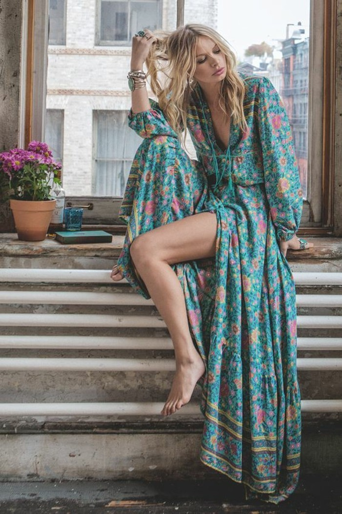 jolie-idee-tenue-chic-bohème-robe-tenue-casual-idee-comment-s-habiller-longue-robe