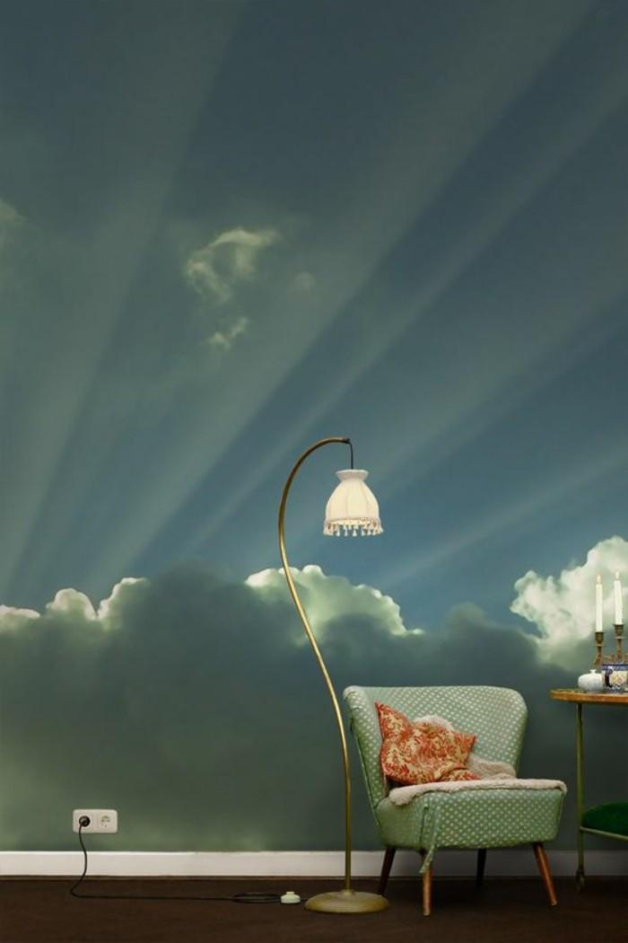 jolie-tapisserie-murale-effet-3d-ciel-nuages