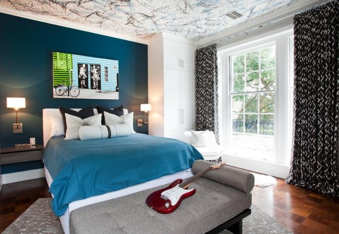 ▷ 1001+ idées pour la décoration d\'une chambre bleu paon