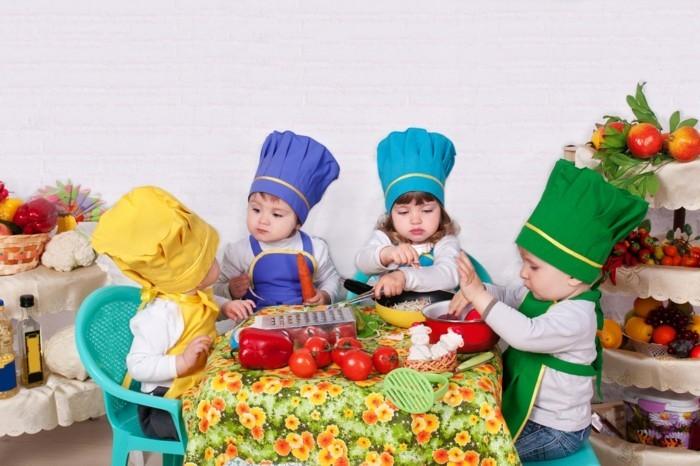 premier cours de culinarie, apprendre à distinguer et nommer les différents types de légumes, activité créative pour maternelle