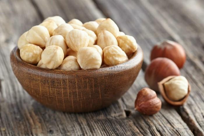 des noisettes, noix pour augmenter la quantité de fer dans l'organisme, liste des aliments contenant du fer