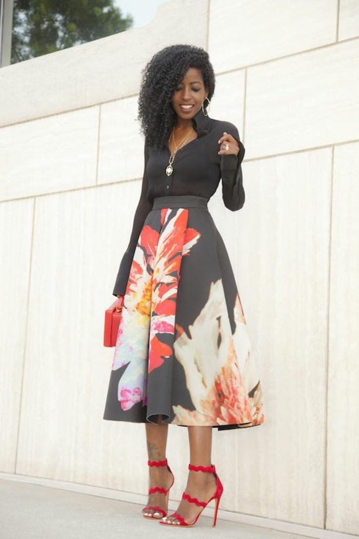 1001 id es pour jupe taille haute comment l 39 assortir. Black Bedroom Furniture Sets. Home Design Ideas
