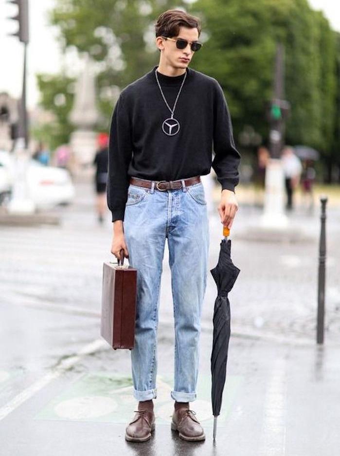 jean coupe large vintage pour un look année 90