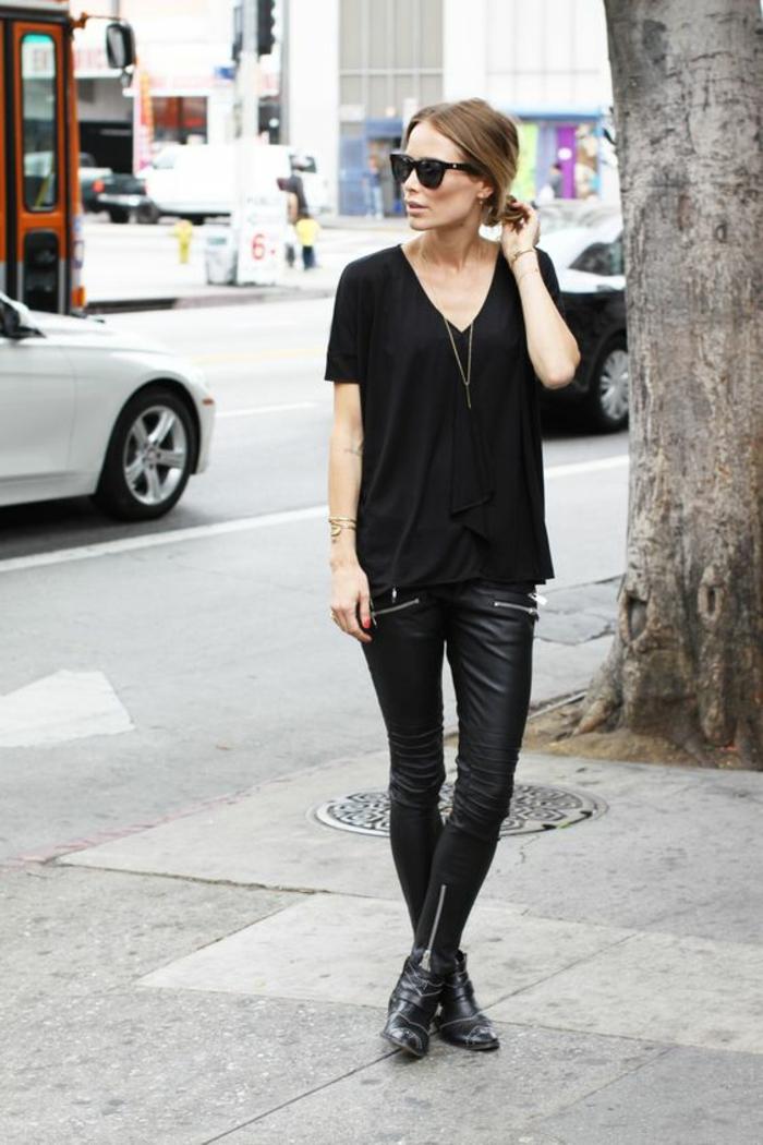 Populaires ▷ 1001+ looks tendance avec le pantalon en cuir femme PT91