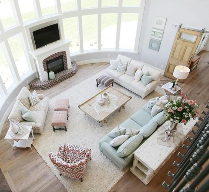 1001 designs superbes pour un salon feng shui - Que mettre au dessus d un canape ...