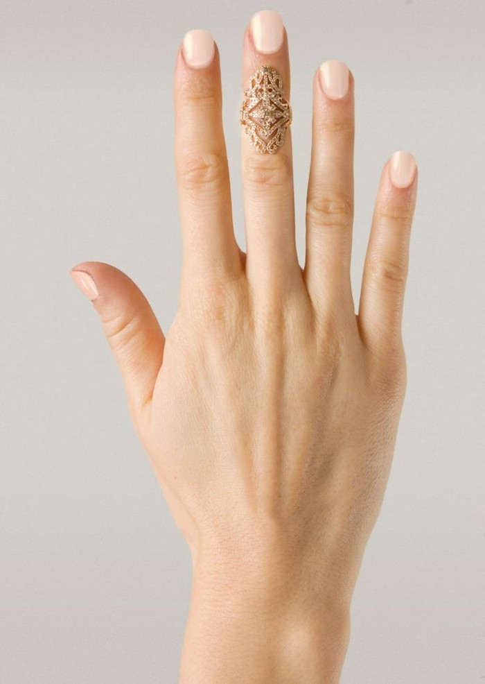 une bague vintage de grande taille, anneau de phalange antique à effet scintillant