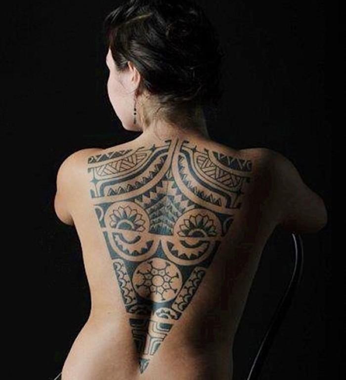 Tatouage Femme Maori Dos Kolorisse Developpement