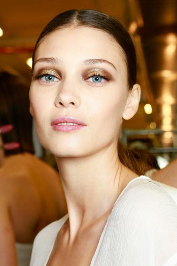 maquillage-des-yeux-bleus-idées-maquillage-élégant