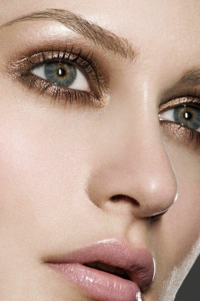 maquillage-des-yeux-nude-simple-idée-maquillage