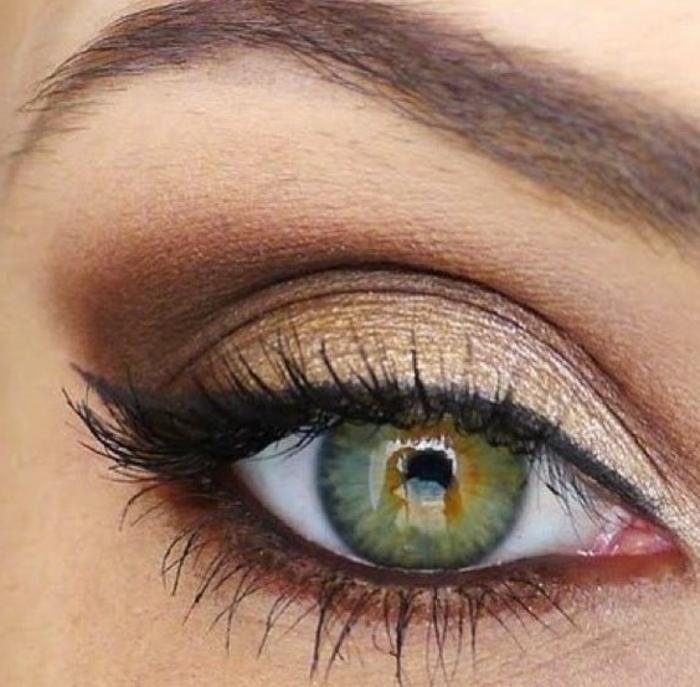 maquillage-des-yeux-verts-maquillage-simple-et-élégant