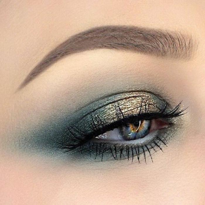 maquillage-doré-maquillage-bleu-et-doré-yeux-bleus