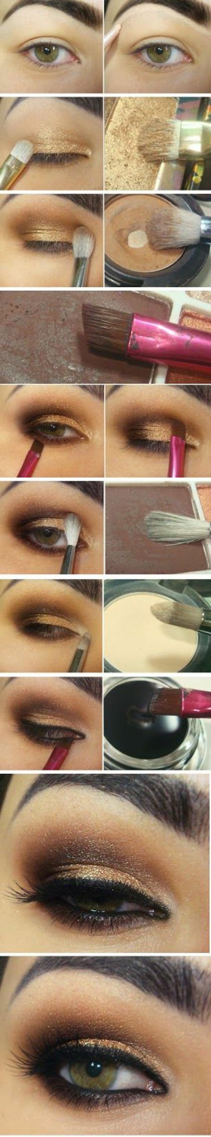 maquillage-doré-smokey-tuto-maquillage-doré-maquillage-gamme-chaude