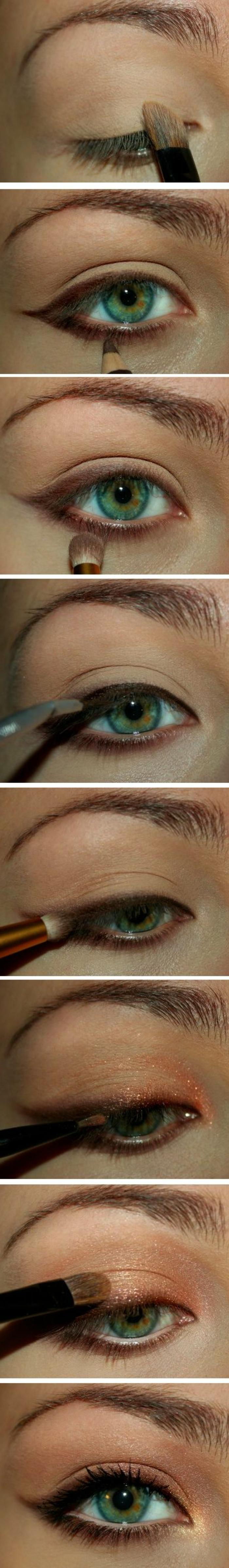 maquillage-doré-tutoriel-maqillage-étapes-pour-se-maquiller-bien