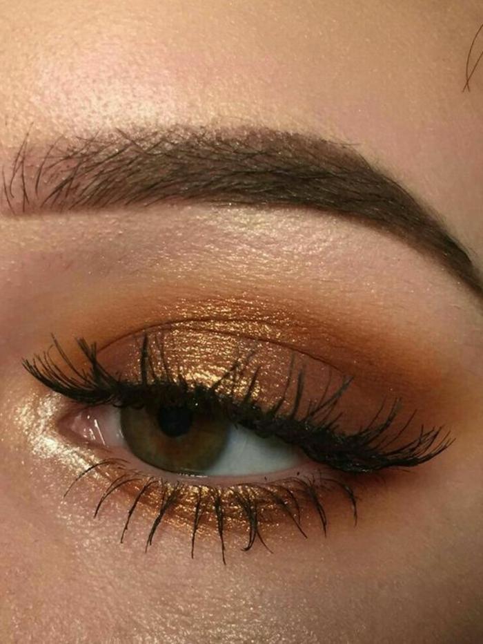 maquillage-marron-et-doré-yeux-dorés-comment-souligner-ses-yeux
